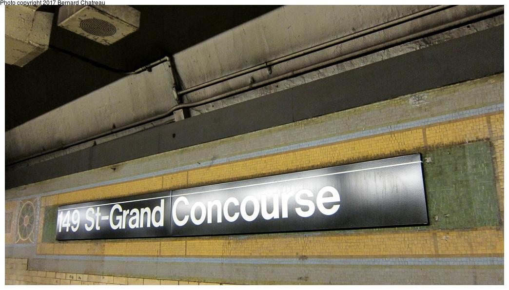 (273k, 1044x595)<br><b>Country:</b> United States<br><b>City:</b> New York<br><b>System:</b> New York City Transit<br><b>Line:</b> IRT White Plains Road Line<br><b>Location:</b> 149th Street/Grand Concourse (Mott Avenue) <br><b>Photo by:</b> Bernard Chatreau<br><b>Date:</b> 9/23/2011<br><b>Notes:</b> Station mosaics.<br><b>Viewed (this week/total):</b> 1 / 365