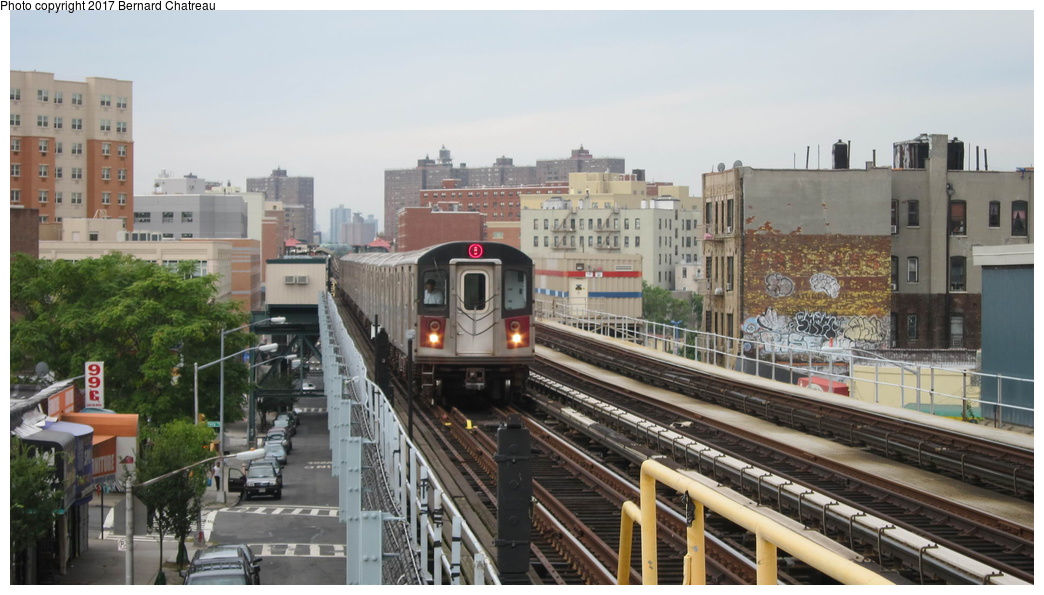(249k, 1044x595)<br><b>Country:</b> United States<br><b>City:</b> New York<br><b>System:</b> New York City Transit<br><b>Line:</b> IRT White Plains Road Line<br><b>Location:</b> Simpson Street <br><b>Route:</b> 5<br><b>Car:</b> R-142 (Primary Order, Bombardier, 1999-2002)  6866 <br><b>Photo by:</b> Bernard Chatreau<br><b>Date:</b> 9/24/2011<br><b>Viewed (this week/total):</b> 0 / 428