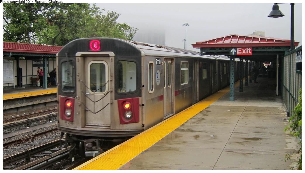 (253k, 1044x594)<br><b>Country:</b> United States<br><b>City:</b> New York<br><b>System:</b> New York City Transit<br><b>Line:</b> IRT Woodlawn Line<br><b>Location:</b> Bedford Park Boulevard <br><b>Route:</b> 4<br><b>Car:</b> R-142 (Option Order, Bombardier, 2002-2003)  7110 <br><b>Photo by:</b> Bernard Chatreau<br><b>Date:</b> 9/23/2011<br><b>Viewed (this week/total):</b> 1 / 417