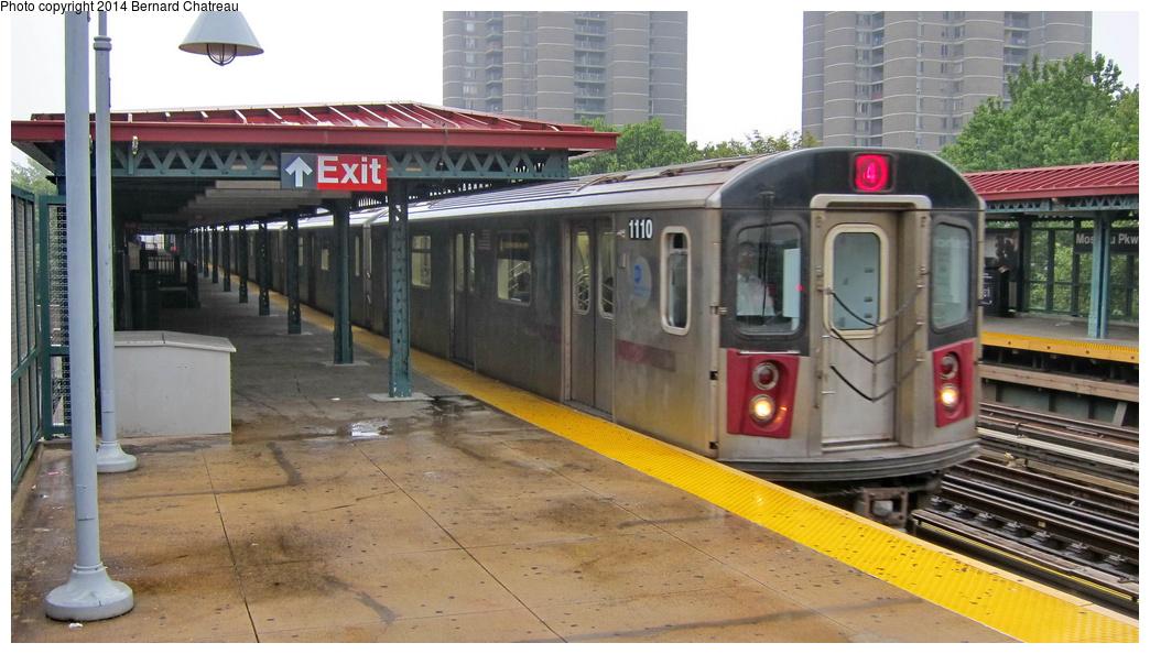 (271k, 1044x594)<br><b>Country:</b> United States<br><b>City:</b> New York<br><b>System:</b> New York City Transit<br><b>Line:</b> IRT Woodlawn Line<br><b>Location:</b> Mosholu Parkway <br><b>Route:</b> 4<br><b>Car:</b> R-142 (Option Order, Bombardier, 2002-2003)  1110 <br><b>Photo by:</b> Bernard Chatreau<br><b>Date:</b> 9/23/2011<br><b>Viewed (this week/total):</b> 4 / 496