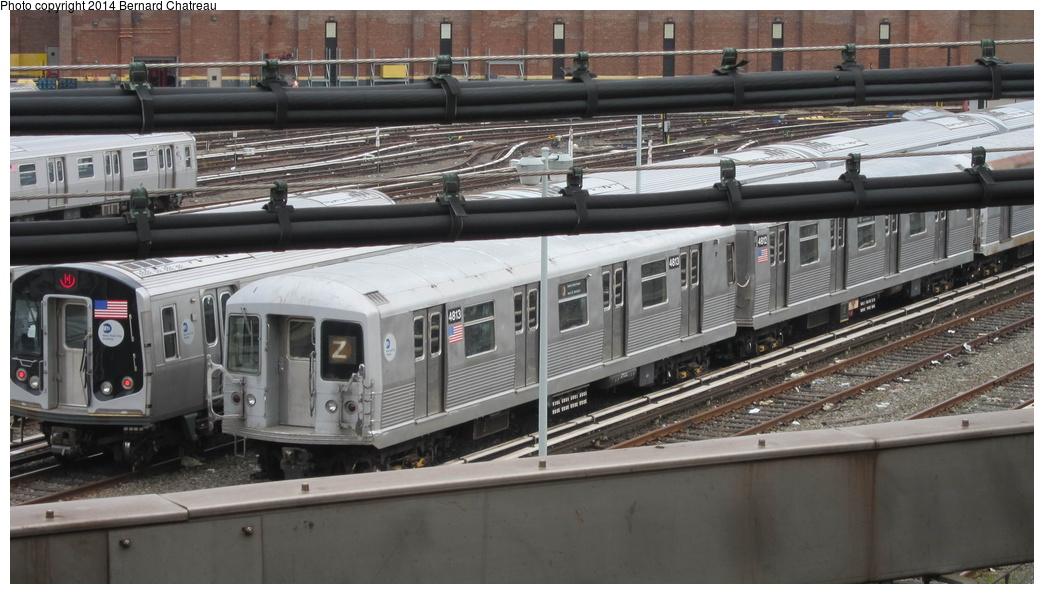 (252k, 1044x594)<br><b>Country:</b> United States<br><b>City:</b> New York<br><b>System:</b> New York City Transit<br><b>Location:</b> East New York Yard/Shops<br><b>Car:</b> R-42 (St. Louis, 1969-1970)  4813 <br><b>Photo by:</b> Bernard Chatreau<br><b>Date:</b> 9/25/2011<br><b>Viewed (this week/total):</b> 4 / 460