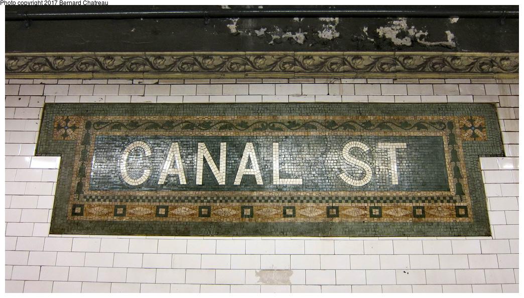 (315k, 1044x595)<br><b>Country:</b> United States<br><b>City:</b> New York<br><b>System:</b> New York City Transit<br><b>Line:</b> IRT East Side Line<br><b>Location:</b> Canal Street <br><b>Photo by:</b> Bernard Chatreau<br><b>Date:</b> 10/4/2011<br><b>Viewed (this week/total):</b> 0 / 383