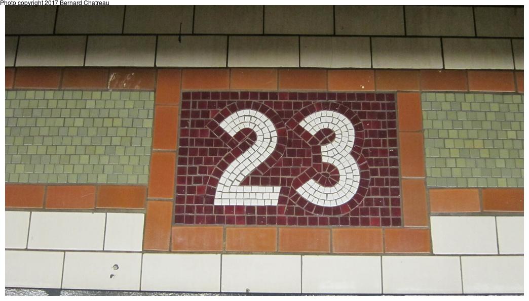 (218k, 1044x595)<br><b>Country:</b> United States<br><b>City:</b> New York<br><b>System:</b> New York City Transit<br><b>Line:</b> IRT East Side Line<br><b>Location:</b> 23rd Street <br><b>Photo by:</b> Bernard Chatreau<br><b>Date:</b> 10/4/2011<br><b>Viewed (this week/total):</b> 2 / 280