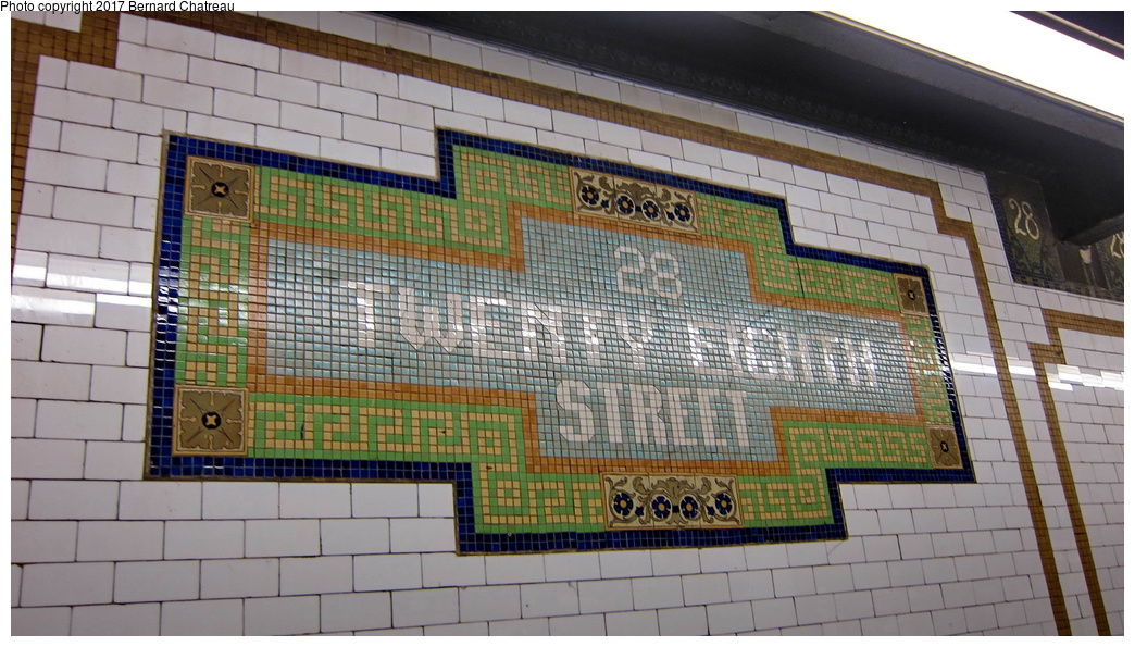 (300k, 1044x595)<br><b>Country:</b> United States<br><b>City:</b> New York<br><b>System:</b> New York City Transit<br><b>Line:</b> IRT East Side Line<br><b>Location:</b> 28th Street <br><b>Photo by:</b> Bernard Chatreau<br><b>Date:</b> 10/4/2011<br><b>Viewed (this week/total):</b> 4 / 290