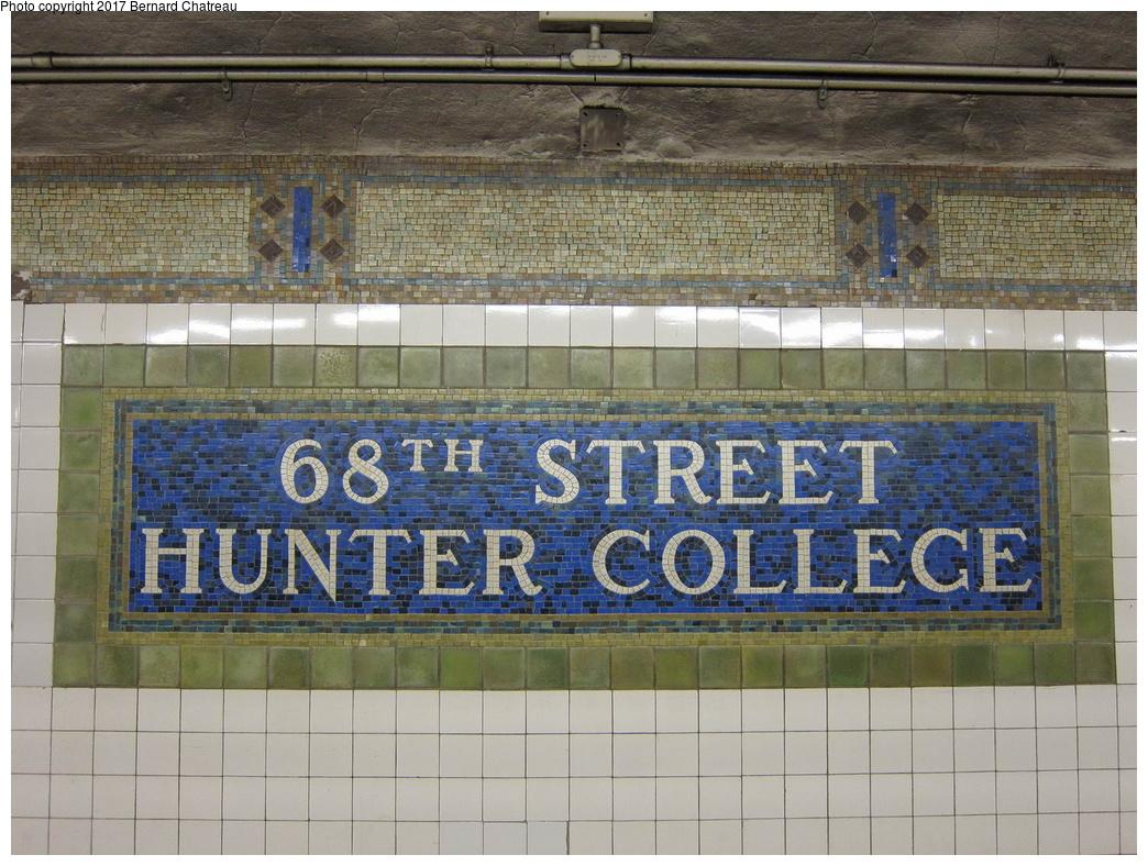 (374k, 1044x788)<br><b>Country:</b> United States<br><b>City:</b> New York<br><b>System:</b> New York City Transit<br><b>Line:</b> IRT East Side Line<br><b>Location:</b> 68th Street <br><b>Photo by:</b> Bernard Chatreau<br><b>Date:</b> 4/18/2011<br><b>Viewed (this week/total):</b> 3 / 401