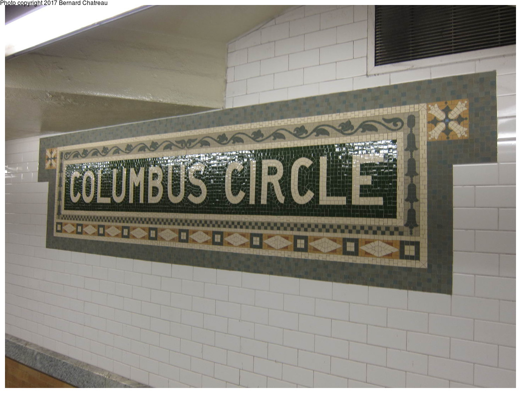 (252k, 1044x788)<br><b>Country:</b> United States<br><b>City:</b> New York<br><b>System:</b> New York City Transit<br><b>Line:</b> IRT West Side Line<br><b>Location:</b> 59th Street/Columbus Circle <br><b>Photo by:</b> Bernard Chatreau<br><b>Date:</b> 10/10/2011<br><b>Viewed (this week/total):</b> 0 / 348