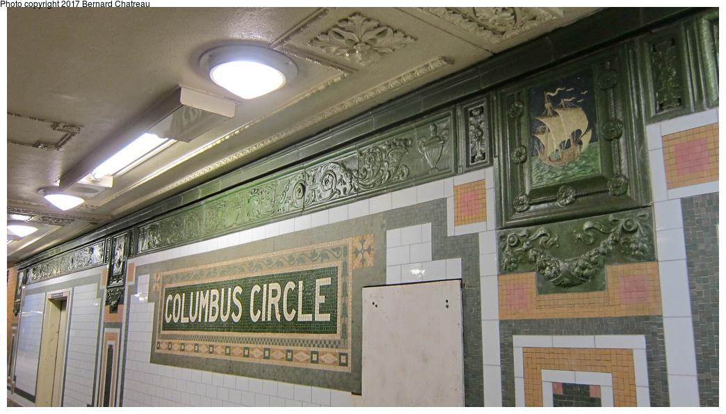 (271k, 1044x595)<br><b>Country:</b> United States<br><b>City:</b> New York<br><b>System:</b> New York City Transit<br><b>Line:</b> IRT West Side Line<br><b>Location:</b> 59th Street/Columbus Circle <br><b>Photo by:</b> Bernard Chatreau<br><b>Date:</b> 10/10/2011<br><b>Viewed (this week/total):</b> 1 / 191