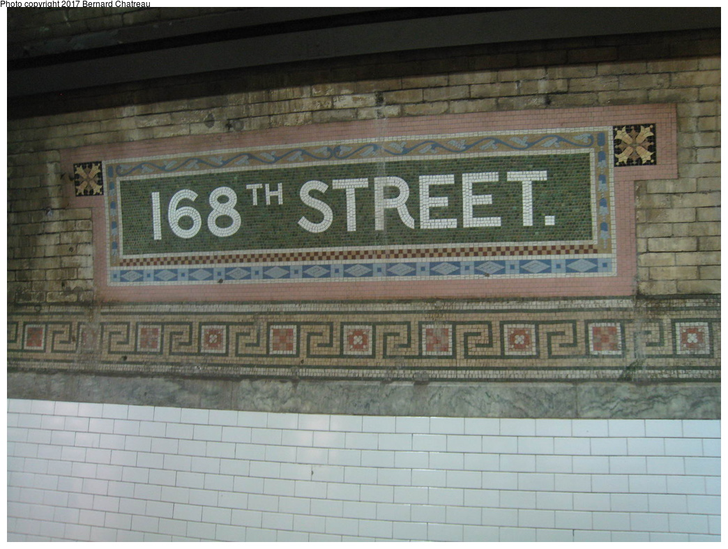 (307k, 1044x788)<br><b>Country:</b> United States<br><b>City:</b> New York<br><b>System:</b> New York City Transit<br><b>Line:</b> IRT West Side Line<br><b>Location:</b> 168th Street <br><b>Photo by:</b> Bernard Chatreau<br><b>Date:</b> 9/23/2011<br><b>Viewed (this week/total):</b> 2 / 428