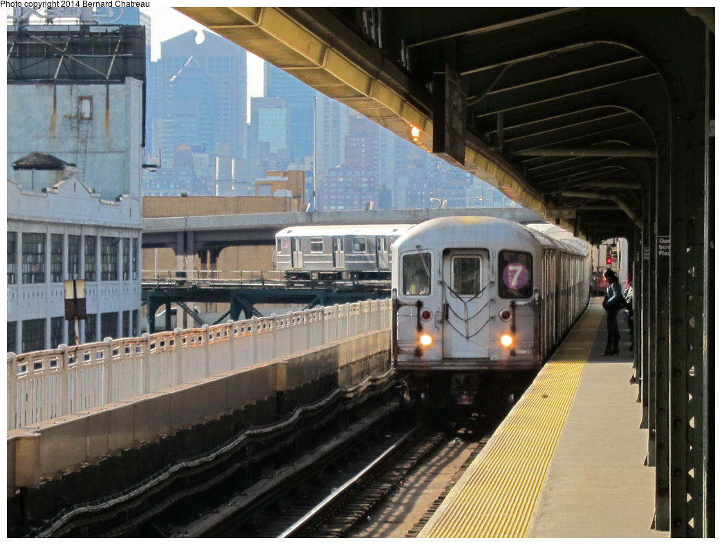 (294k, 1044x788)<br><b>Country:</b> United States<br><b>City:</b> New York<br><b>System:</b> New York City Transit<br><b>Line:</b> IRT Flushing Line<br><b>Location:</b> Queensborough Plaza <br><b>Route:</b> 7<br><b>Car:</b> R-62A (Bombardier, 1984-1987)  1906 <br><b>Photo by:</b> Bernard Chatreau<br><b>Date:</b> 4/9/2011<br><b>Viewed (this week/total):</b> 0 / 385