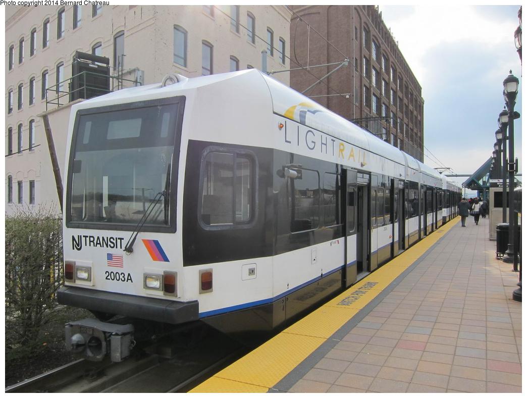 (289k, 1044x788)<br><b>Country:</b> United States<br><b>City:</b> Jersey City, NJ<br><b>System:</b> Hudson Bergen Light Rail<br><b>Location:</b> West Side Avenue<br><b>Car:</b> NJT-HBLR LRV (Kinki-Sharyo, 1998-99) 2003 <br><b>Photo by:</b> Bernard Chatreau<br><b>Date:</b> 4/18/2011<br><b>Viewed (this week/total):</b> 2 / 187