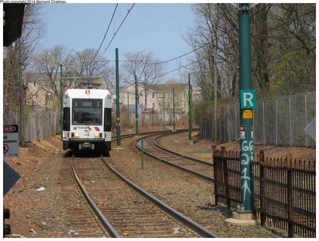 (439k, 1044x788)<br><b>Country:</b> United States<br><b>City:</b> Newark, NJ<br><b>System:</b> Newark City Subway<br><b>Location:</b> Davenport Avenue<br><b>Car:</b> NJT Kinki-Sharyo LRV (Newark) 114 <br><b>Photo by:</b> Bernard Chatreau<br><b>Date:</b> 4/18/2011<br><b>Viewed (this week/total):</b> 2 / 242