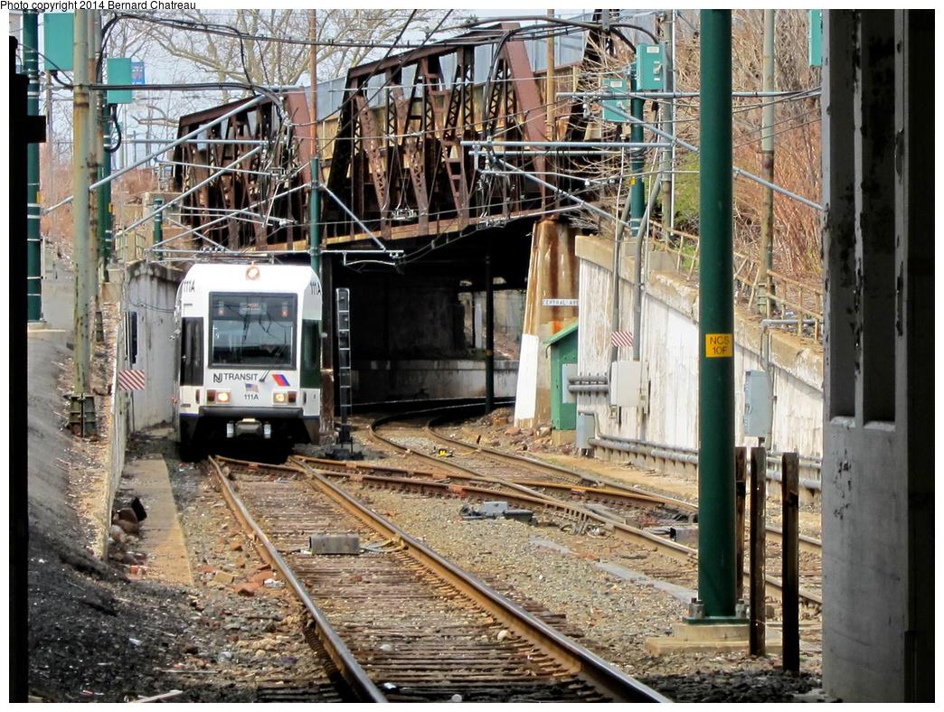 (441k, 1044x788)<br><b>Country:</b> United States<br><b>City:</b> Newark, NJ<br><b>System:</b> Newark City Subway<br><b>Location:</b> Norfolk Street<br><b>Car:</b> NJT Kinki-Sharyo LRV (Newark) 111 <br><b>Photo by:</b> Bernard Chatreau<br><b>Date:</b> 4/18/2011<br><b>Viewed (this week/total):</b> 2 / 336