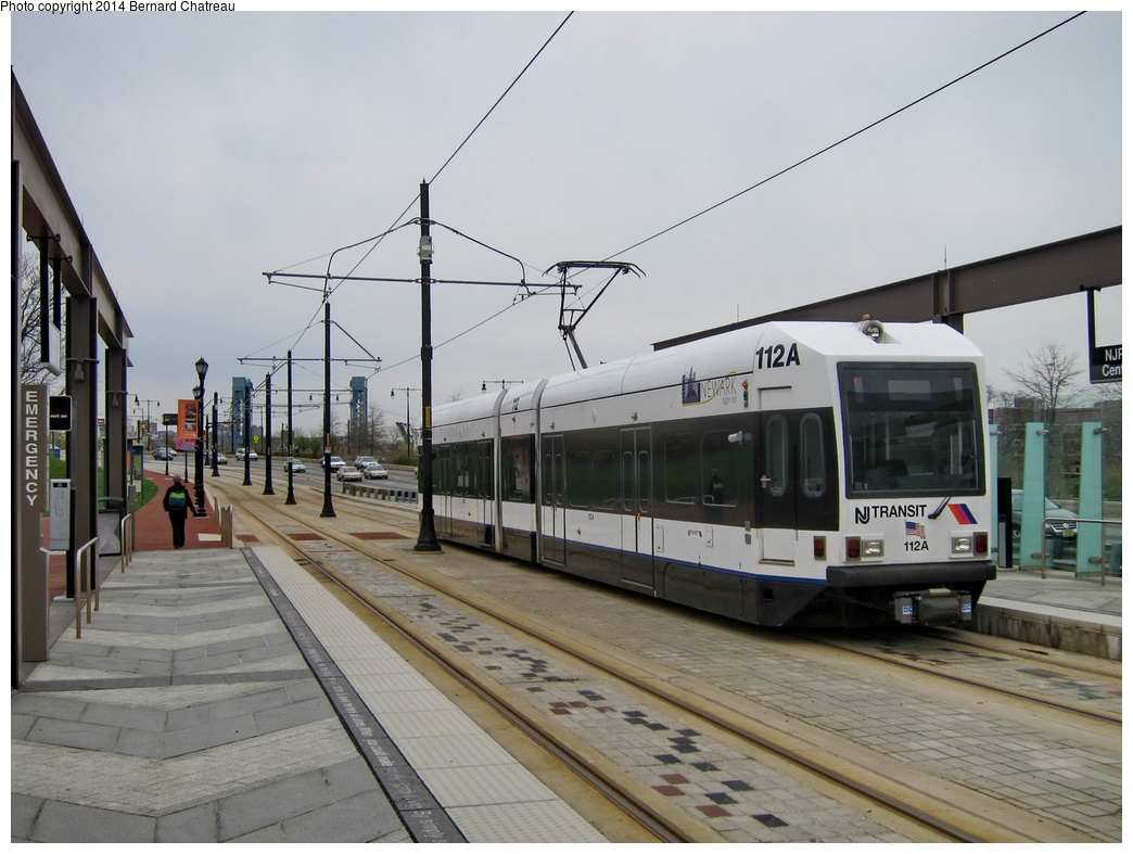 (274k, 1044x787)<br><b>Country:</b> United States<br><b>City:</b> Newark, NJ<br><b>System:</b> Newark City Subway<br><b>Location:</b> NJPAC/Center Street<br><b>Car:</b> NJT Kinki-Sharyo LRV (Newark) 112 <br><b>Photo by:</b> Bernard Chatreau<br><b>Date:</b> 4/18/2011<br><b>Viewed (this week/total):</b> 0 / 226