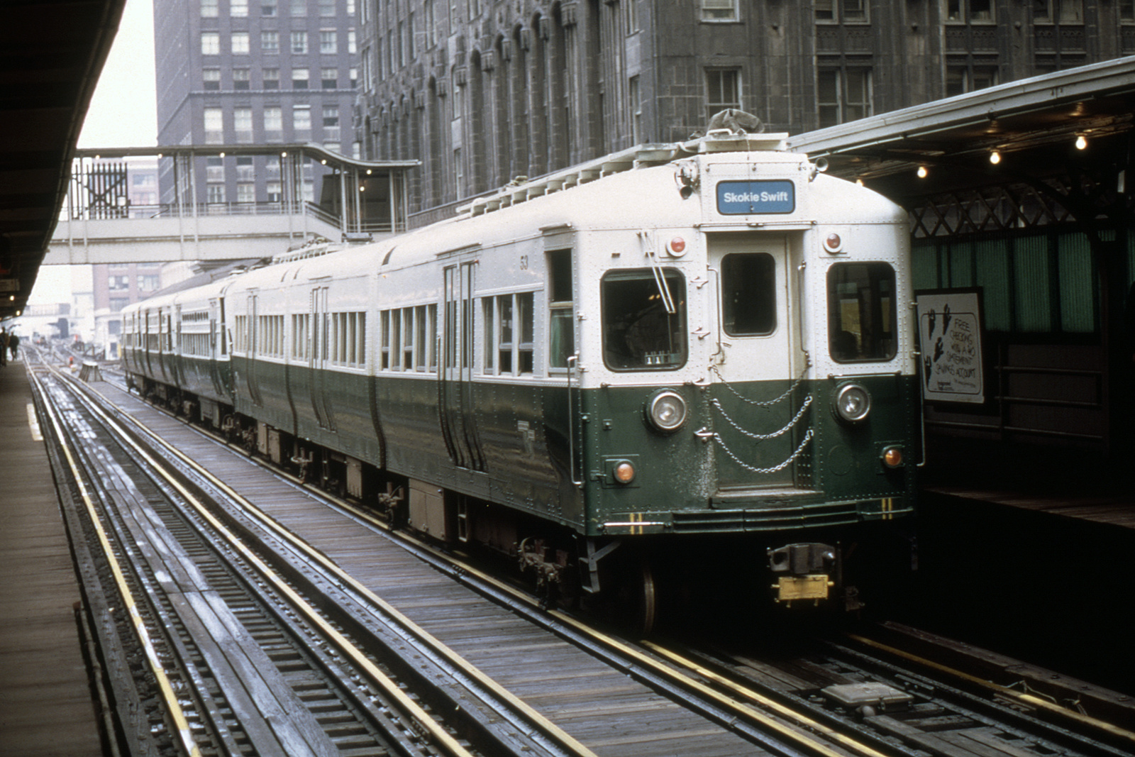 (394k, 1024x683)<br><b>Country:</b> United States<br><b>City:</b> Chicago, IL<br><b>System:</b> Chicago Transit Authority <br><b>Line:</b> CTA Loop<br><b>Location:</b> Randolph/Wells <br><b>Route:</b> Fan Trip<br><b>Car:</b> CTA 51-54 Series 53 <br><b>Collection of:</b> David Pirmann<br><b>Date:</b> 5/28/1973<br><b>Viewed (this week/total):</b> 0 / 346
