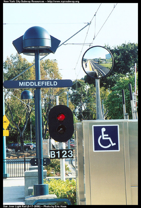 (179k, 558x824)<br><b>Country:</b> United States<br><b>City:</b> San Jose, CA<br><b>System:</b> Santa Clara VTA<br><b>Line:</b> VTA Tasman West/Mountain View<br><b>Location:</b> Middlefield <br><b>Photo by:</b> Eric Haas<br><b>Date:</b> 5/17/2000<br><b>Viewed (this week/total):</b> 0 / 2120