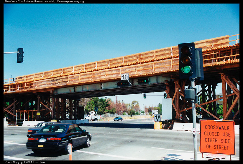 (149k, 824x557)<br><b>Country:</b> United States<br><b>City:</b> San Jose, CA<br><b>System:</b> Santa Clara VTA<br><b>Line:</b> VTA Tasman East/Capitol<br><b>Location:</b> Tasman East Line-Loc. Unknown<br><b>Photo by:</b> Eric Haas<br><b>Date:</b> 5/18/2001<br><b>Notes:</b> Tasman East line under construction.<br><b>Viewed (this week/total):</b> 0 / 2019