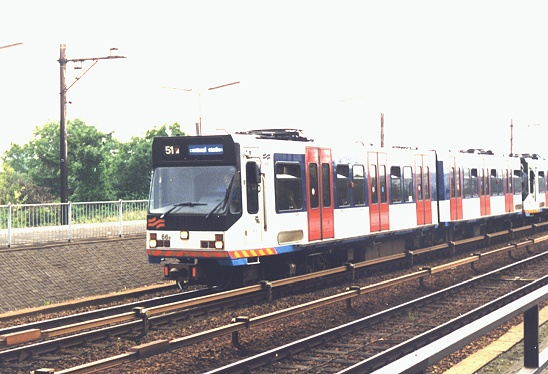 (92k, 548x374)<br><b>Country:</b> The Netherlands<br><b>City:</b> Amsterdam<br><b>System:</b> Amsterdam GVB<br><b>Line:</b> Centraal-Station-Lijn<br><b>Location:</b> Amstel (51/53/54)<br><b>Route:</b> 51<br><b>Car:</b> Series S2 (La Brugeoise) 66 <br><b>Photo by:</b> Simon Billis<br><b>Date:</b> 5/28/1999<br><b>Viewed (this week/total):</b> 2 / 2032