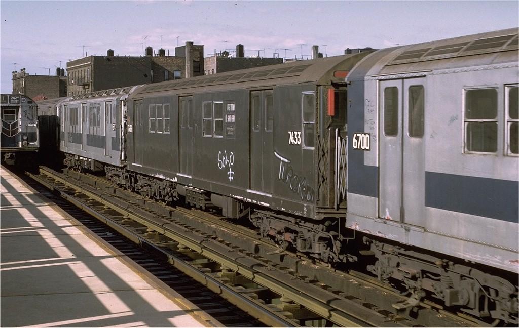 (191k, 1024x648)<br><b>Country:</b> United States<br><b>City:</b> New York<br><b>System:</b> New York City Transit<br><b>Line:</b> IRT West Side Line<br><b>Location:</b> 238th Street <br><b>Route:</b> 1<br><b>Car:</b> R-22 (St. Louis, 1957-58) 7433 <br><b>Photo by:</b> Joe Testagrose<br><b>Date:</b> 6/10/1972<br><b>Viewed (this week/total):</b> 0 / 2404
