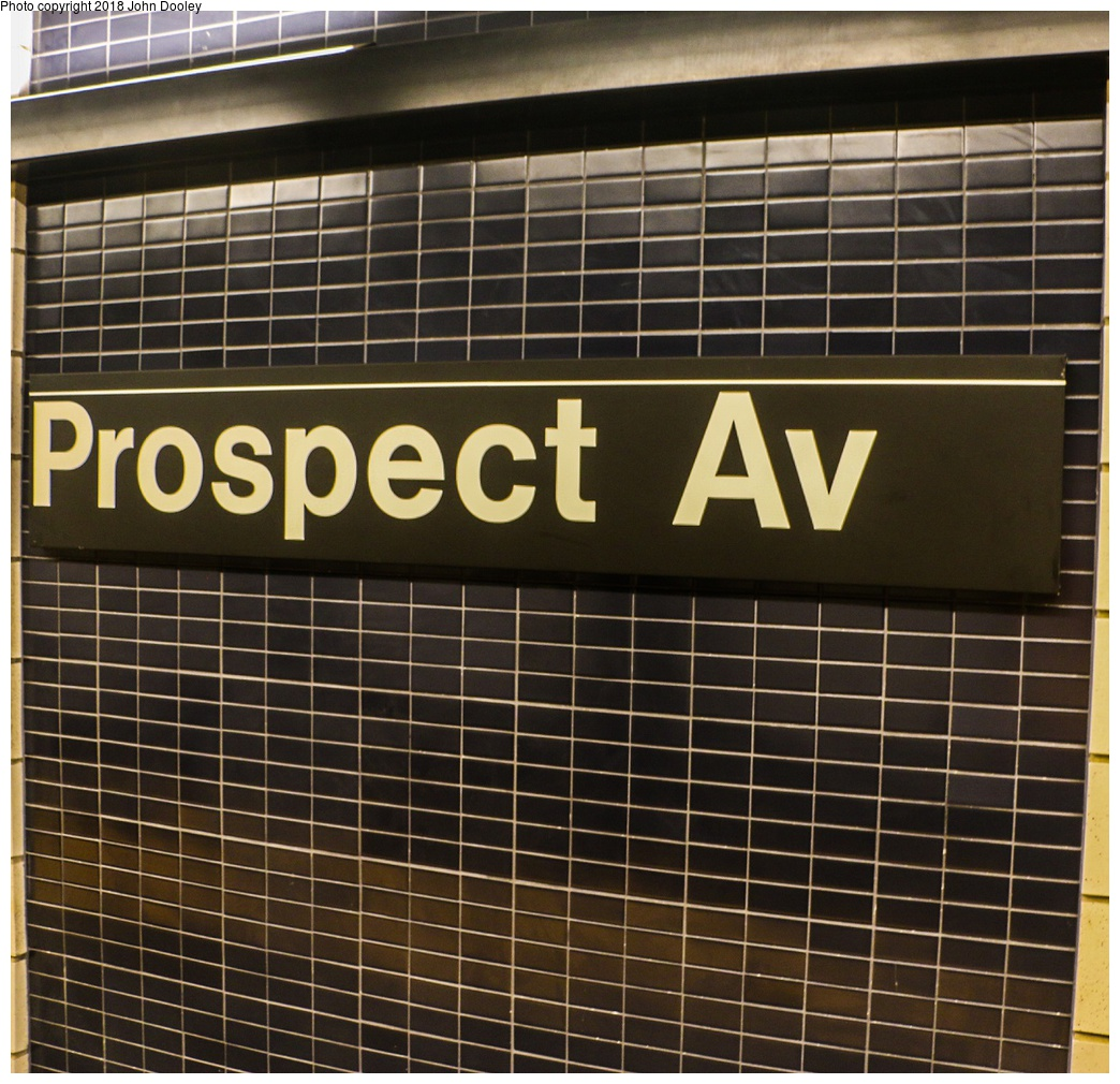 (373k, 1044x1010)<br><b>Country:</b> United States<br><b>City:</b> New York<br><b>System:</b> New York City Transit<br><b>Line:</b> BMT 4th Avenue<br><b>Location:</b> Prospect Avenue <br><b>Photo by:</b> John Dooley<br><b>Date:</b> 11/4/2017<br><b>Notes:</b> Station renovations.<br><b>Viewed (this week/total):</b> 15 / 345