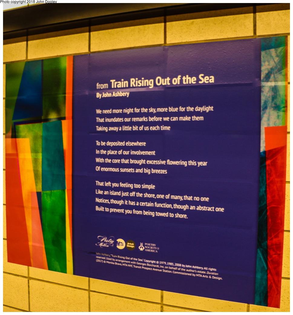 (298k, 968x1043)<br><b>Country:</b> United States<br><b>City:</b> New York<br><b>System:</b> New York City Transit<br><b>Line:</b> BMT 4th Avenue<br><b>Location:</b> Prospect Avenue <br><b>Photo by:</b> John Dooley<br><b>Date:</b> 11/4/2017<br><b>Notes:</b> Station renovations.<br><b>Viewed (this week/total):</b> 21 / 367