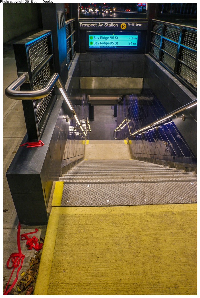 (339k, 703x1044)<br><b>Country:</b> United States<br><b>City:</b> New York<br><b>System:</b> New York City Transit<br><b>Line:</b> BMT 4th Avenue<br><b>Location:</b> Prospect Avenue <br><b>Photo by:</b> John Dooley<br><b>Date:</b> 11/4/2017<br><b>Notes:</b> Station renovations.<br><b>Viewed (this week/total):</b> 5 / 207