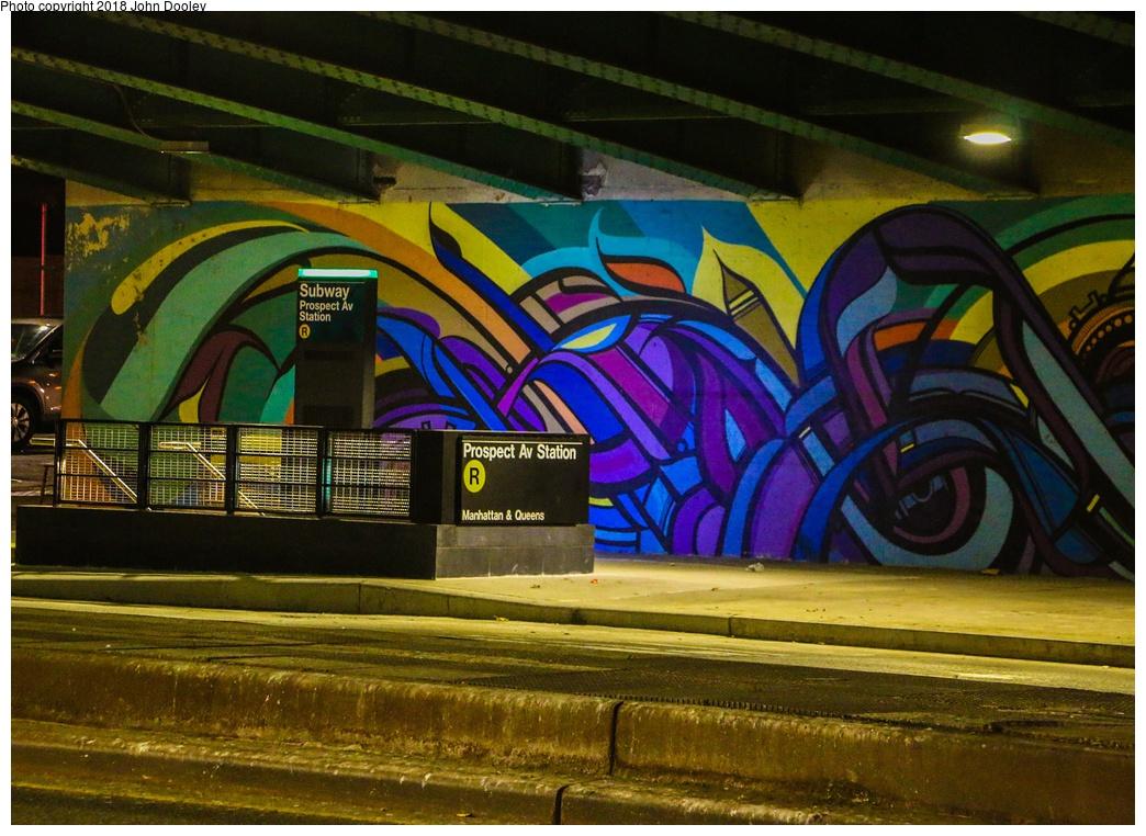 (332k, 1044x762)<br><b>Country:</b> United States<br><b>City:</b> New York<br><b>System:</b> New York City Transit<br><b>Line:</b> BMT 4th Avenue<br><b>Location:</b> Prospect Avenue <br><b>Photo by:</b> John Dooley<br><b>Date:</b> 11/4/2017<br><b>Notes:</b> Station renovations.<br><b>Viewed (this week/total):</b> 1 / 439