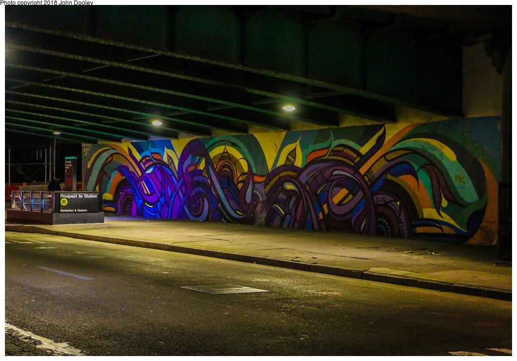 (296k, 1044x728)<br><b>Country:</b> United States<br><b>City:</b> New York<br><b>System:</b> New York City Transit<br><b>Line:</b> BMT 4th Avenue<br><b>Location:</b> Prospect Avenue <br><b>Photo by:</b> John Dooley<br><b>Date:</b> 11/4/2017<br><b>Notes:</b> Station renovations.<br><b>Viewed (this week/total):</b> 3 / 454
