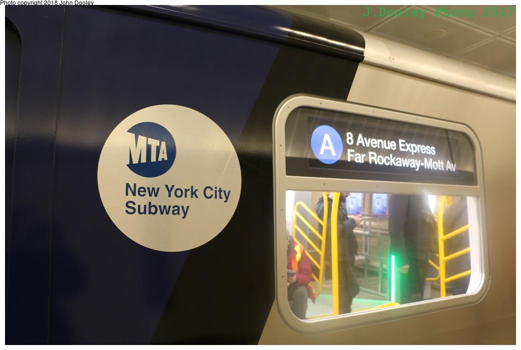 (168k, 1044x703)<br><b>Country:</b> United States<br><b>City:</b> New York<br><b>System:</b> New York City Transit<br><b>Line:</b> IRT Flushing Line<br><b>Location:</b> 34th Street-Hudson Yards <br><b>Photo by:</b> John Dooley<br><b>Date:</b> 12/1/2017<br><b>Notes:</b> R-211 mockup on display at 34th St-Hudson Yards mezzanine.<br><b>Viewed (this week/total):</b> 1 / 654