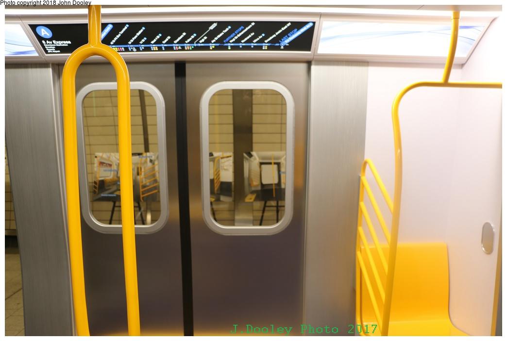 (179k, 1044x703)<br><b>Country:</b> United States<br><b>City:</b> New York<br><b>System:</b> New York City Transit<br><b>Line:</b> IRT Flushing Line<br><b>Location:</b> 34th Street-Hudson Yards <br><b>Photo by:</b> John Dooley<br><b>Date:</b> 12/1/2017<br><b>Notes:</b> R-211 mockup on display at 34th St-Hudson Yards mezzanine.<br><b>Viewed (this week/total):</b> 0 / 511