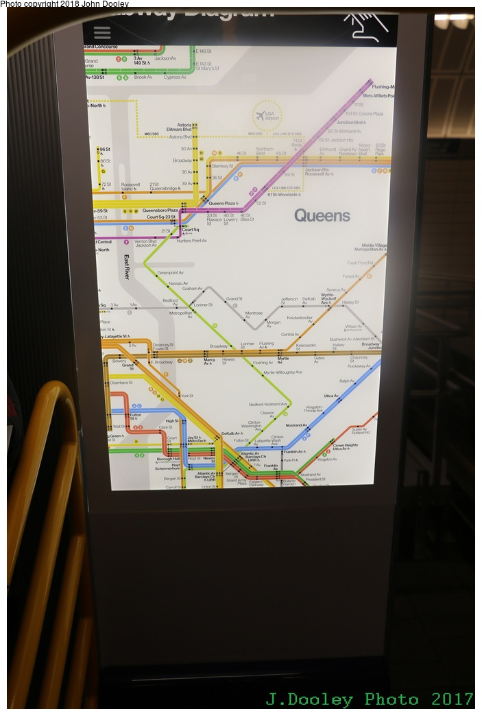 (189k, 703x1044)<br><b>Country:</b> United States<br><b>City:</b> New York<br><b>System:</b> New York City Transit<br><b>Line:</b> IRT Flushing Line<br><b>Location:</b> 34th Street-Hudson Yards <br><b>Photo by:</b> John Dooley<br><b>Date:</b> 12/1/2017<br><b>Notes:</b> R-211 mockup on display at 34th St-Hudson Yards mezzanine.<br><b>Viewed (this week/total):</b> 27 / 198