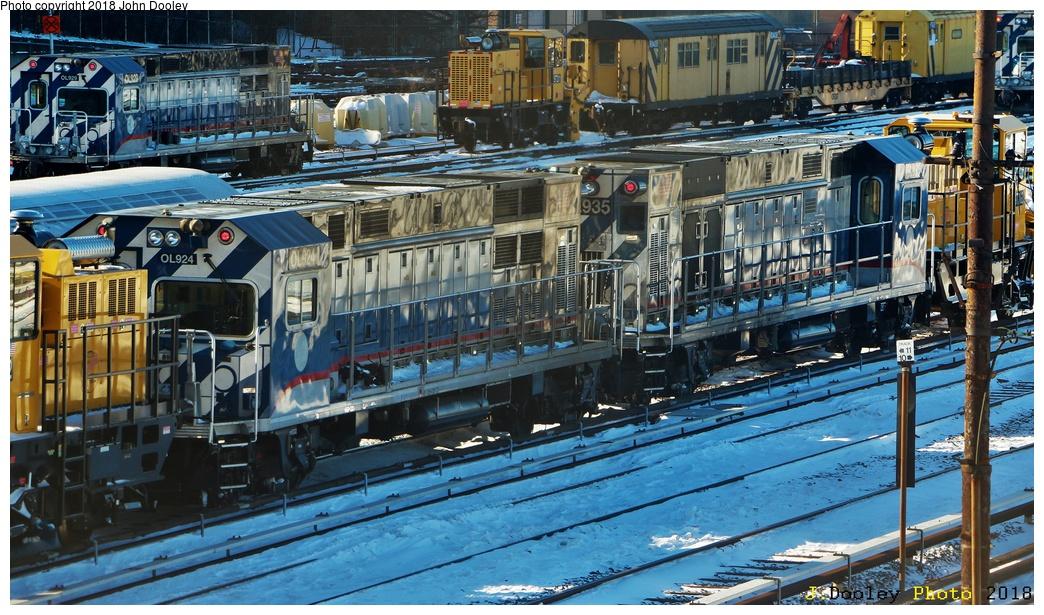 (369k, 1044x615)<br><b>Country:</b> United States<br><b>City:</b> New York<br><b>System:</b> New York City Transit<br><b>Location:</b> 36th Street Yard<br><b>Car:</b> R-156 Diesel-Electric Locomotive (MPI, 2012-2013) 924/935 <br><b>Photo by:</b> John Dooley<br><b>Date:</b> 1/6/2018<br><b>Viewed (this week/total):</b> 1 / 600