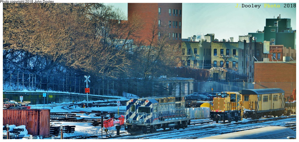 (331k, 1044x496)<br><b>Country:</b> United States<br><b>City:</b> New York<br><b>System:</b> New York City Transit<br><b>Location:</b> 36th Street Yard<br><b>Car:</b> R-156 Diesel-Electric Locomotive (MPI, 2012-2013) 929 <br><b>Photo by:</b> John Dooley<br><b>Date:</b> 1/6/2018<br><b>Viewed (this week/total):</b> 2 / 583