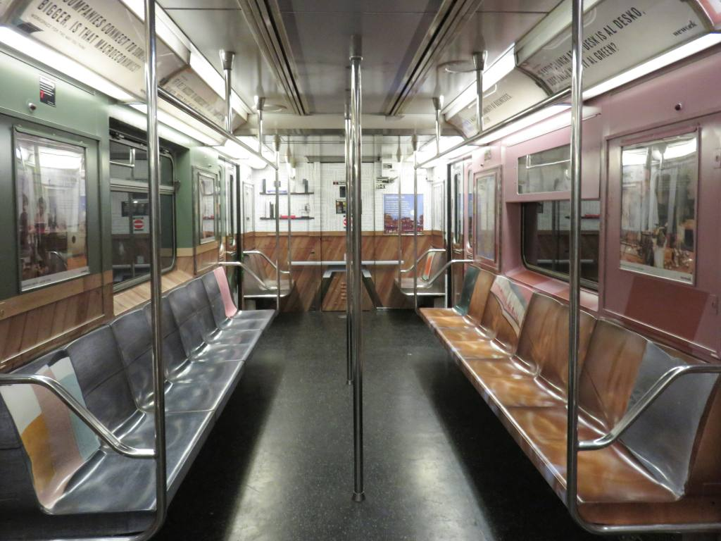 (123k, 1024x768)<br><b>Country:</b> United States<br><b>City:</b> New York<br><b>System:</b> New York City Transit<br><b>Line:</b> IRT Times Square-Grand Central Shuttle<br><b>Location:</b> Grand Central <br><b>Route:</b> S<br><b>Car:</b> R-62A (Bombardier, 1984-1987)  1941 <br><b>Photo by:</b> Robbie Rosenfeld<br><b>Date:</b> 9/6/2017<br><b>Notes:</b> WeWork ad wrap<br><b>Viewed (this week/total):</b> 3 / 493