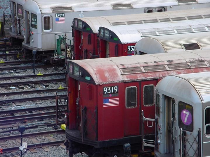 (115k, 719x540)<br><b>Country:</b> United States<br><b>City:</b> New York<br><b>System:</b> New York City Transit<br><b>Location:</b> Corona Yard<br><b>Car:</b> R-33 World's Fair (St. Louis, 1963-64) 9319 <br><b>Photo by:</b> Ian Dale<br><b>Date:</b> 10/6/2003<br><b>Viewed (this week/total):</b> 19 / 185