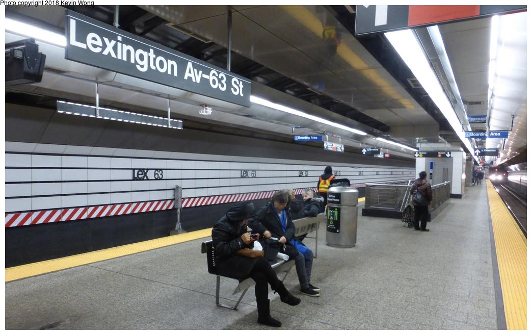 (275k, 1044x657)<br><b>Country:</b> United States<br><b>City:</b> New York<br><b>System:</b> New York City Transit<br><b>Line:</b> IND 63rd Street<br><b>Location:</b> Lexington Avenue-63rd Street <br><b>Photo by:</b> Kevin Wong<br><b>Date:</b> 12/17/2017<br><b>Viewed (this week/total):</b> 2 / 1075