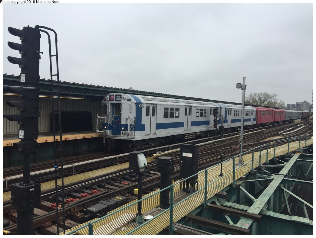 (281k, 1044x788)<br><b>Country:</b> United States<br><b>City:</b> New York<br><b>System:</b> New York City Transit<br><b>Line:</b> IRT Flushing Line<br><b>Location:</b> Willets Point/Mets (fmr. Shea Stadium) <br><b>Route:</b> Museum Train Service<br><b>Car:</b> R-33 Main Line (St. Louis, 1962-63) 9206 <br><b>Photo by:</b> Nicholas Noel<br><b>Date:</b> 4/21/2017<br><b>Viewed (this week/total):</b> 2 / 684