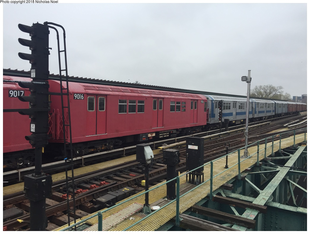 (284k, 1044x788)<br><b>Country:</b> United States<br><b>City:</b> New York<br><b>System:</b> New York City Transit<br><b>Line:</b> IRT Flushing Line<br><b>Location:</b> Willets Point/Mets (fmr. Shea Stadium) <br><b>Route:</b> Museum Train Service<br><b>Car:</b> R-33 Main Line (St. Louis, 1962-63) 9016 <br><b>Photo by:</b> Nicholas Noel<br><b>Date:</b> 4/21/2017<br><b>Viewed (this week/total):</b> 11 / 201