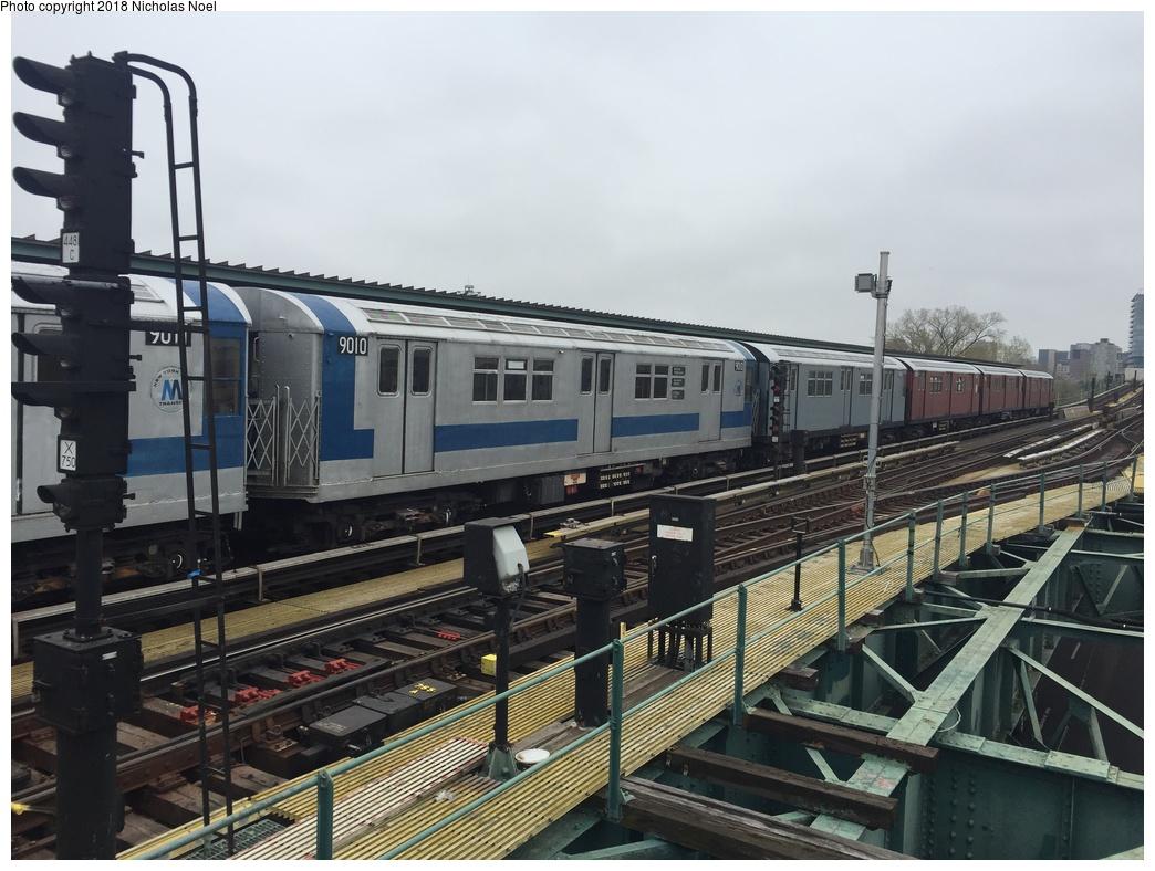 (298k, 1044x788)<br><b>Country:</b> United States<br><b>City:</b> New York<br><b>System:</b> New York City Transit<br><b>Line:</b> IRT Flushing Line<br><b>Location:</b> Willets Point/Mets (fmr. Shea Stadium) <br><b>Route:</b> Museum Train Service<br><b>Car:</b> R-33 Main Line (St. Louis, 1962-63) 9010 <br><b>Photo by:</b> Nicholas Noel<br><b>Date:</b> 4/21/2017<br><b>Viewed (this week/total):</b> 3 / 470