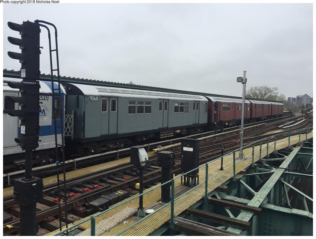 (283k, 1044x788)<br><b>Country:</b> United States<br><b>City:</b> New York<br><b>System:</b> New York City Transit<br><b>Line:</b> IRT Flushing Line<br><b>Location:</b> Willets Point/Mets (fmr. Shea Stadium) <br><b>Route:</b> Museum Train Service<br><b>Car:</b> R-33 Main Line (St. Louis, 1962-63) 9068 <br><b>Photo by:</b> Nicholas Noel<br><b>Date:</b> 4/21/2017<br><b>Viewed (this week/total):</b> 1 / 576