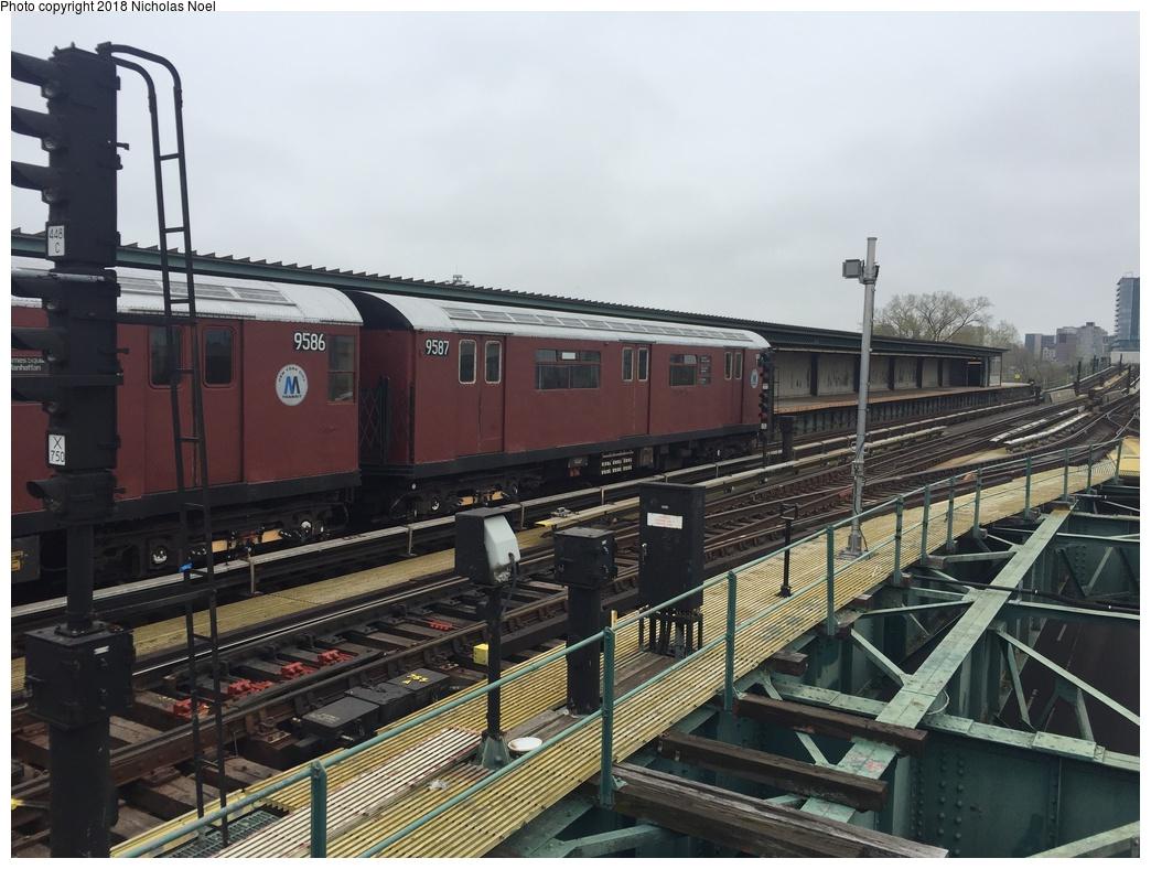 (295k, 1044x788)<br><b>Country:</b> United States<br><b>City:</b> New York<br><b>System:</b> New York City Transit<br><b>Line:</b> IRT Flushing Line<br><b>Location:</b> Willets Point/Mets (fmr. Shea Stadium) <br><b>Route:</b> Museum Train Service<br><b>Car:</b> R-36 World's Fair (St. Louis, 1963-64) 9587 <br><b>Photo by:</b> Nicholas Noel<br><b>Date:</b> 4/21/2017<br><b>Viewed (this week/total):</b> 1 / 221