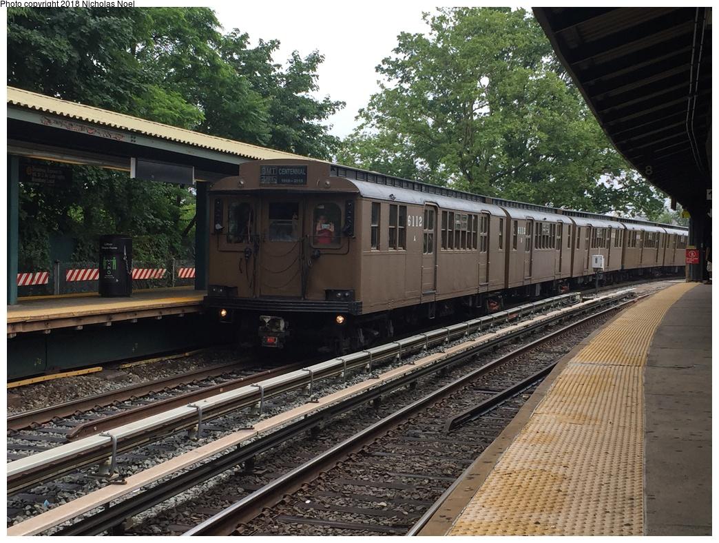 (396k, 1044x788)<br><b>Country:</b> United States<br><b>City:</b> New York<br><b>System:</b> New York City Transit<br><b>Line:</b> BMT Brighton Line<br><b>Location:</b> Sheepshead Bay <br><b>Route:</b> Museum Train Service<br><b>Car:</b> BMT D-Type Triplex 6112 <br><b>Photo by:</b> Nicholas Noel<br><b>Date:</b> 6/17/2017<br><b>Viewed (this week/total):</b> 0 / 434