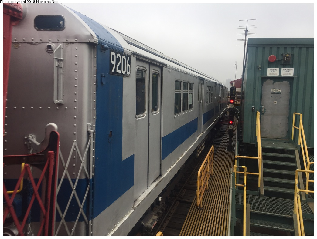 (249k, 1044x788)<br><b>Country:</b> United States<br><b>City:</b> New York<br><b>System:</b> New York City Transit<br><b>Line:</b> IRT Flushing Line<br><b>Location:</b> Queensborough Plaza <br><b>Route:</b> Museum Train Service<br><b>Car:</b> R-33 Main Line (St. Louis, 1962-63) 9206 <br><b>Photo by:</b> Nicholas Noel<br><b>Date:</b> 3/29/2018<br><b>Viewed (this week/total):</b> 2 / 272
