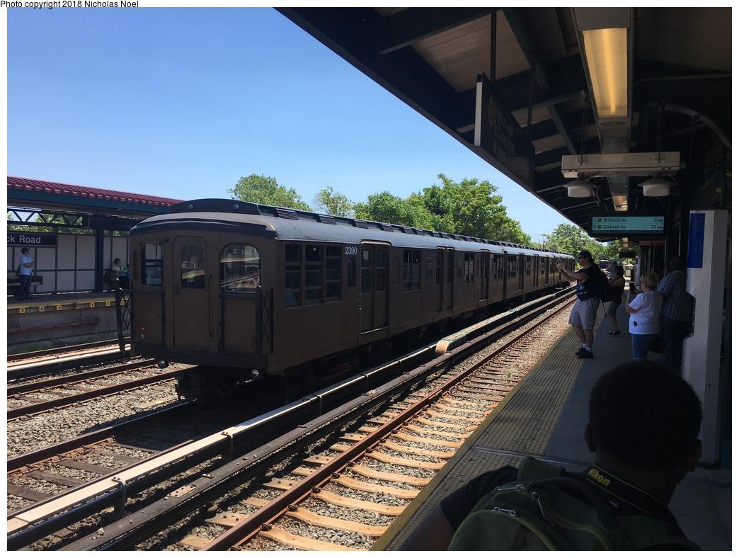 (316k, 1044x788)<br><b>Country:</b> United States<br><b>City:</b> New York<br><b>System:</b> New York City Transit<br><b>Line:</b> BMT Brighton Line<br><b>Location:</b> Neck Road <br><b>Route:</b> Museum Train Service<br><b>Car:</b> BMT A/B-Type Standard 2390 <br><b>Photo by:</b> Nicholas Noel<br><b>Date:</b> 6/16/2018<br><b>Viewed (this week/total):</b> 1 / 456