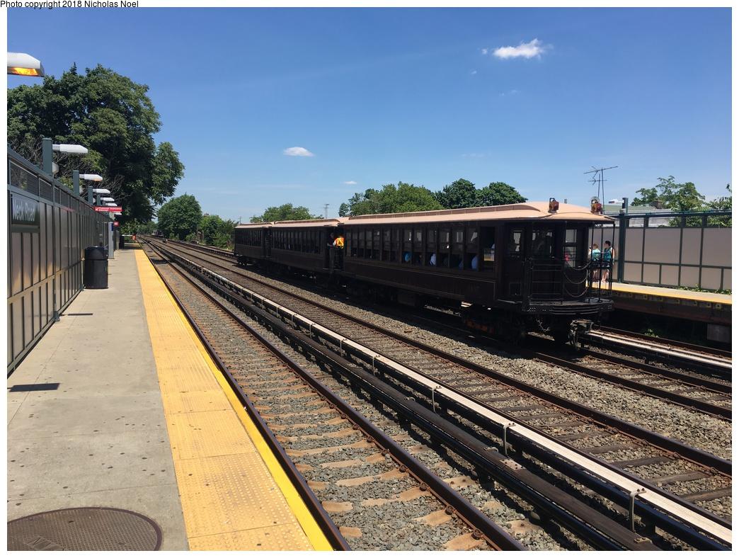 (358k, 1044x788)<br><b>Country:</b> United States<br><b>City:</b> New York<br><b>System:</b> New York City Transit<br><b>Line:</b> BMT Brighton Line<br><b>Location:</b> Neck Road <br><b>Route:</b> Museum Train Service<br><b>Car:</b> BMT Elevated Gate Car 1407 <br><b>Photo by:</b> Nicholas Noel<br><b>Date:</b> 6/16/2018<br><b>Viewed (this week/total):</b> 3 / 159