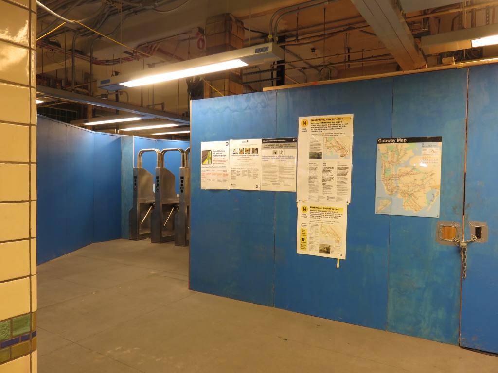 (96k, 1024x768)<br><b>Country:</b> United States<br><b>City:</b> New York<br><b>System:</b> New York City Transit<br><b>Line:</b> BMT Sea Beach Line<br><b>Location:</b> 20th Avenue <br><b>Photo by:</b> Robbie Rosenfeld<br><b>Date:</b> 5/23/2018<br><b>Notes:</b> Station renovations.<br><b>Viewed (this week/total):</b> 2 / 262