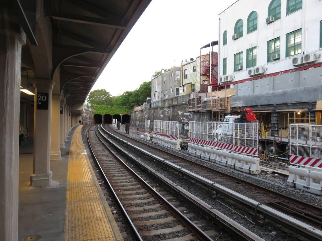 (146k, 1024x768)<br><b>Country:</b> United States<br><b>City:</b> New York<br><b>System:</b> New York City Transit<br><b>Line:</b> BMT Sea Beach Line<br><b>Location:</b> 20th Avenue <br><b>Photo by:</b> Robbie Rosenfeld<br><b>Date:</b> 5/23/2018<br><b>Notes:</b> Station renovations.<br><b>Viewed (this week/total):</b> 2 / 287