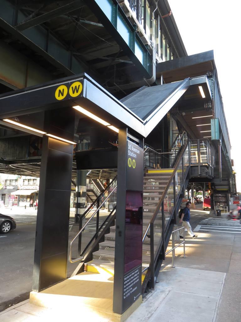 (127k, 768x1024)<br><b>Country:</b> United States<br><b>City:</b> New York<br><b>System:</b> New York City Transit<br><b>Line:</b> BMT Astoria Line<br><b>Location:</b> 30th/Grand Aves. <br><b>Photo by:</b> Robbie Rosenfeld<br><b>Date:</b> 6/26/2018<br><b>Viewed (this week/total):</b> 2 / 391