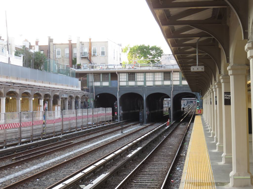 (142k, 1024x768)<br><b>Country:</b> United States<br><b>City:</b> New York<br><b>System:</b> New York City Transit<br><b>Line:</b> BMT Sea Beach Line<br><b>Location:</b> Kings Highway <br><b>Photo by:</b> Robbie Rosenfeld<br><b>Date:</b> 5/23/2018<br><b>Notes:</b> Station renovations.<br><b>Viewed (this week/total):</b> 5 / 399