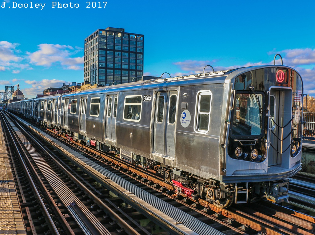 (376k, 1024x763)<br><b>Country:</b> United States<br><b>City:</b> New York<br><b>System:</b> New York City Transit<br><b>Line:</b> BMT Nassau Street/Jamaica Line<br><b>Location:</b> Marcy Avenue <br><b>Route:</b> Testing<br><b>Car:</b> R-179 (Bombardier, 2016-) 3065 <br><b>Photo by:</b> John Dooley<br><b>Date:</b> 11/19/2017<br><b>Viewed (this week/total):</b> 10 / 379