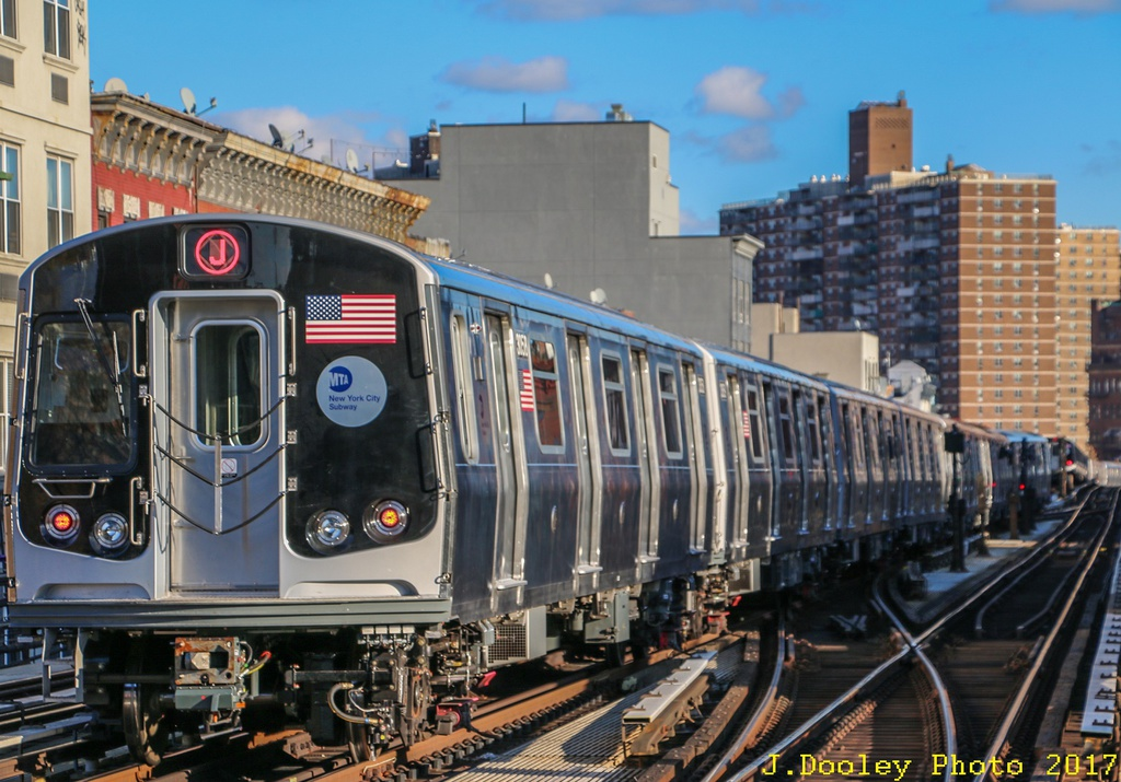 (293k, 1024x715)<br><b>Country:</b> United States<br><b>City:</b> New York<br><b>System:</b> New York City Transit<br><b>Line:</b> BMT Nassau Street/Jamaica Line<br><b>Location:</b> Marcy Avenue <br><b>Route:</b> Testing<br><b>Car:</b> R-179 (Bombardier, 2016-) 3058 <br><b>Photo by:</b> John Dooley<br><b>Date:</b> 11/19/2017<br><b>Viewed (this week/total):</b> 6 / 407
